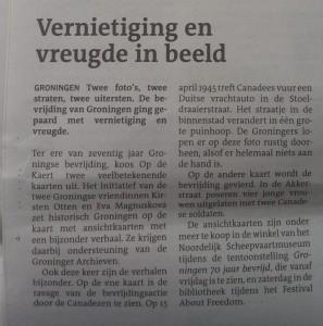 Dagblad van het Noorden, 9 april 2015