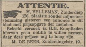 Nieuwsblad van het Noorden, 4 maart 1915